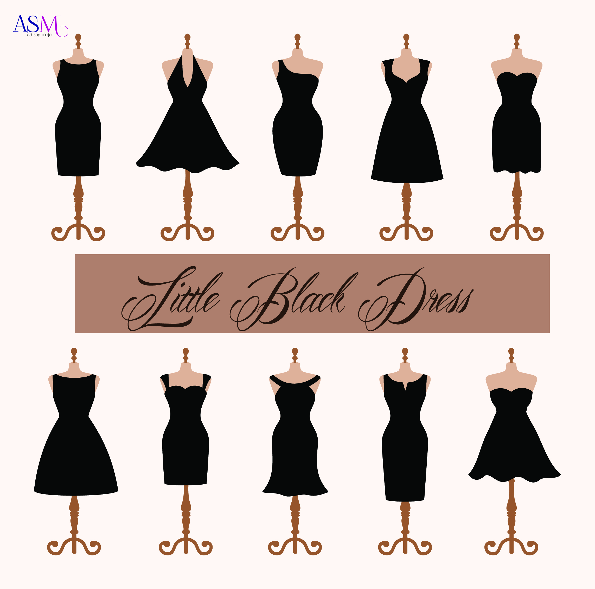 Vestido negro en fiesta de dia