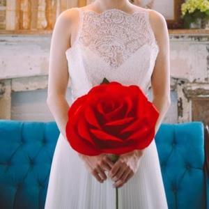 Ramo de novia flor gigante roja