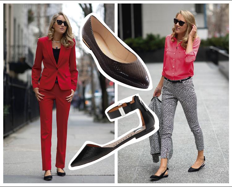 Vestidos formales con zapatos bajos