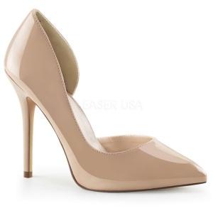 Beige+Charol+13+cm+AMUSE-22+Zapato+Salon+Clasico+para+Mujer_7892_0