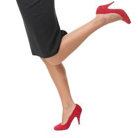 Legs running in high heels