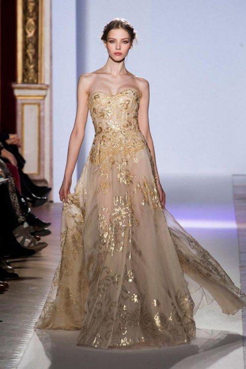 Vestidos dorados para boda civil