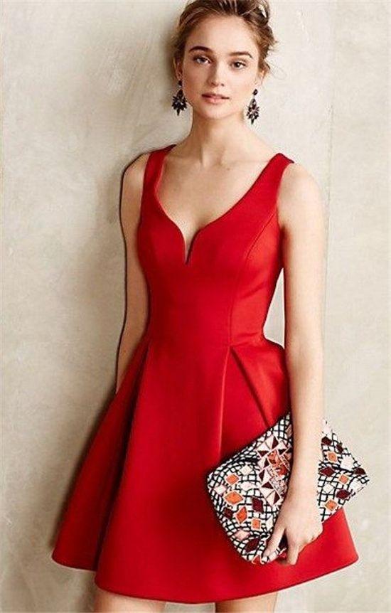 Vestidos para una boda color rojo