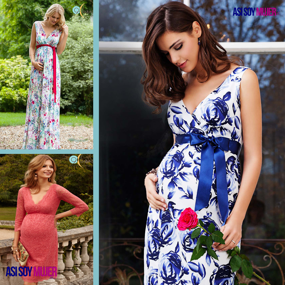 Vestidos modernos para embarazadas 2019
