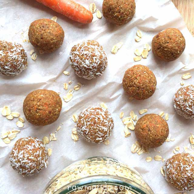 raw-vegan-nut-free-carrot-cake-bites-lowfat-recipe-oats2